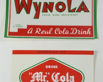 three 1960s pioneer valley soda labels etsy