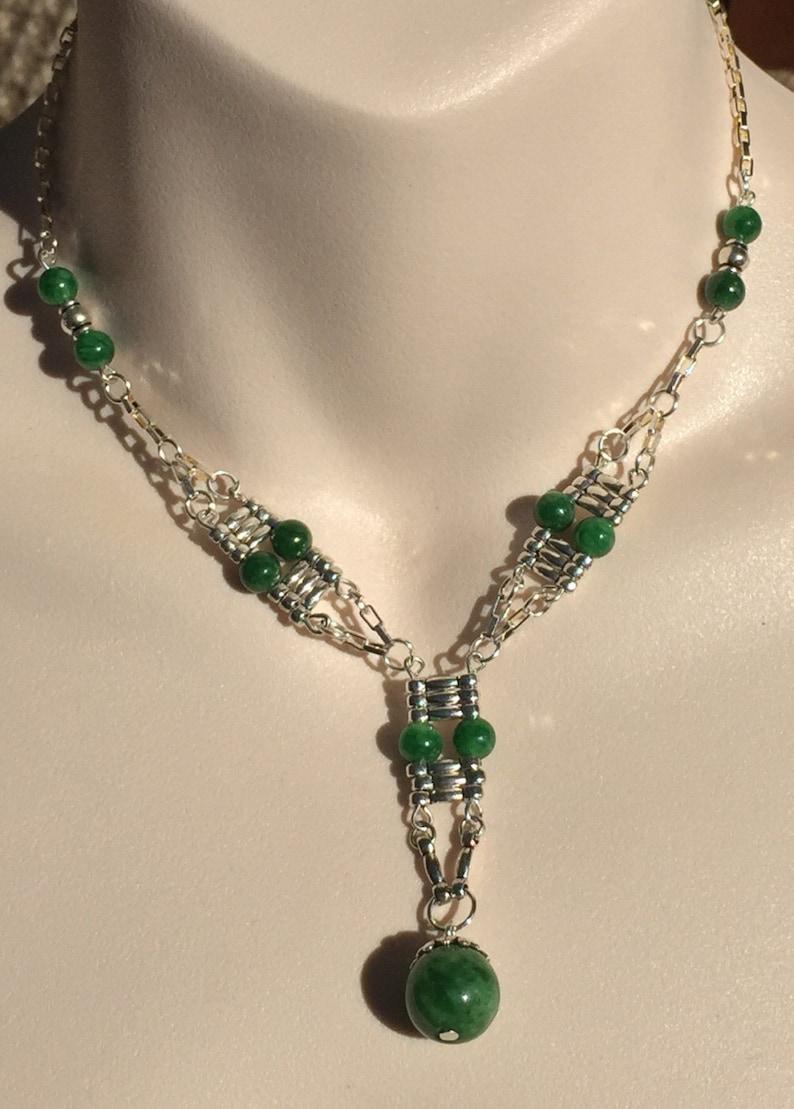 Green Jade bead Necklace