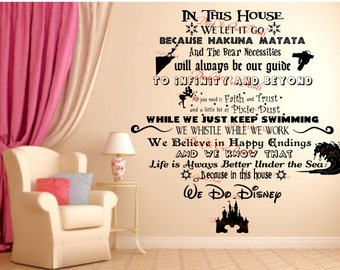 We Do Disney Vinyl wall decal (EXTRA LARGE OVER 36 High) ....EDE00018  sc 1 st  Etsy & Deck It Out Decals by DeckItOutDecals on Etsy