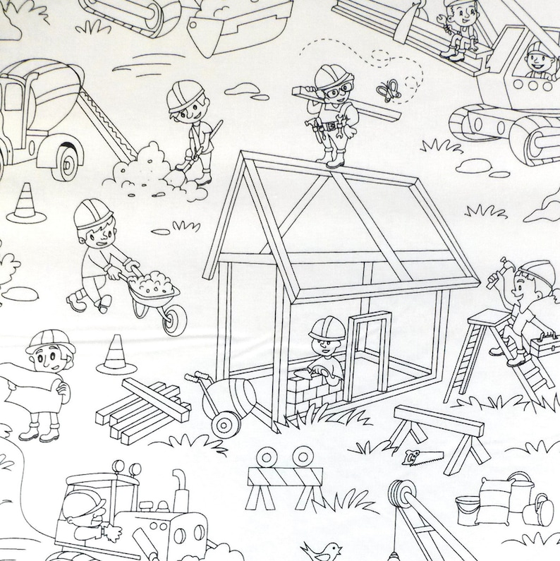 Michael Miller Fabric Rocket Kids Far Far Away Black HALF METRE