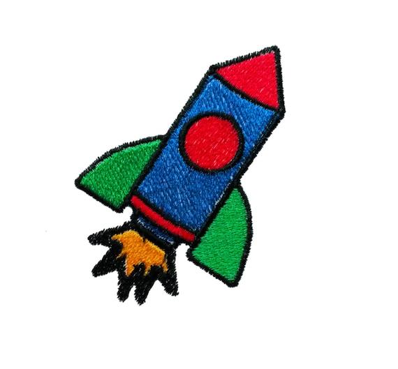 Rakete Stickerei Download Space Machine Stickmuster mit | Etsy