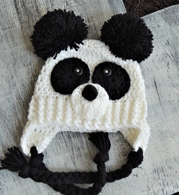 2cc4ad111da Crochet Panda Hat LuvBeanies Animal hats Panda bear hat