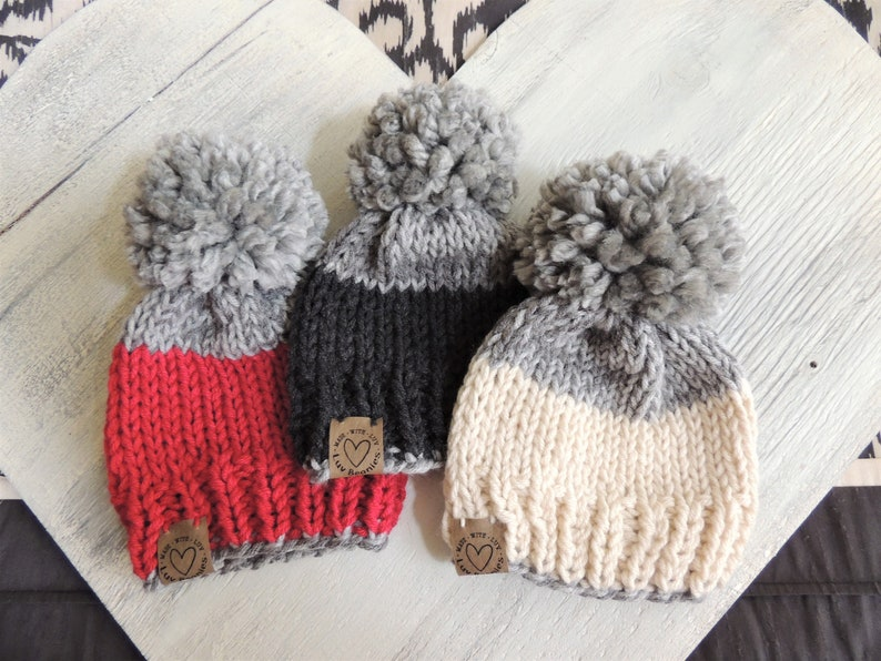 1480a4a1b69 Baby Hats Knit Stocking hat Ski Hat Hats for Kids Unisex