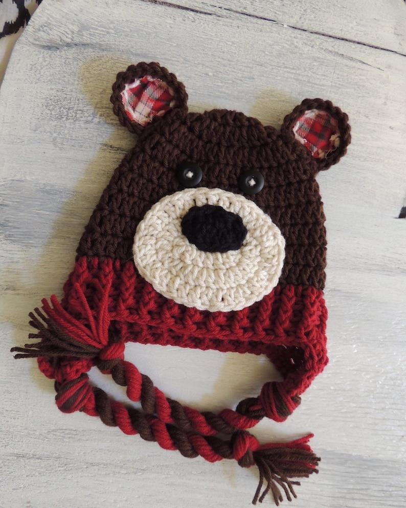 ff0e6b64426 Crochet Bear Hat boy hats Luv Beanies Crochet hats animal