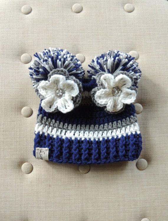 5adccaa9cc8f82 Baby Hats Crochet Football hat Luv Beanies Dallas Cowboy | Etsy