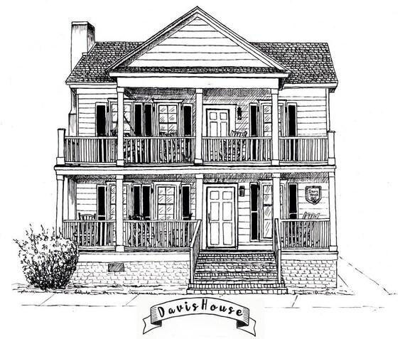 Abbozzo della casa personalizzati inchiostro casa disegno - Disegno pianta casa ...