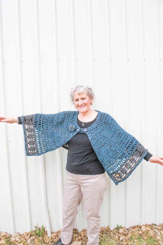 Beginners Crochet Cape Pattern Ladies Cape Crochet Pattern | Etsy