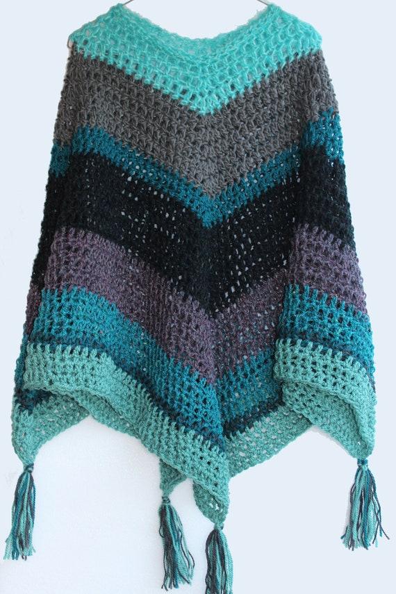 Chunky Crochet Poncho Pattern Beginners Poncho Beginner Etsy