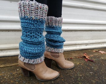 Leg warmers or Boot cuffs Crochet Pattern - slouchy, adjustable, long or short, fancy or plain - you choose - ideal gift for lady. Unisex