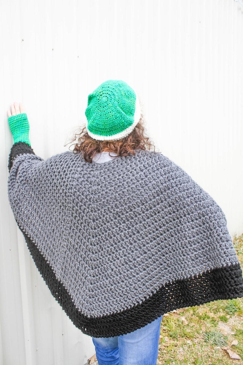 Unisex Crochet Poncho Pattern Unisex Poncho Easy Crochet Etsy