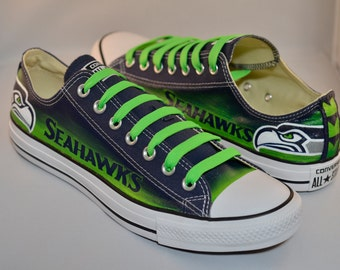 c9f7abc86364 Seahawks Converse Shoes  Mens Design