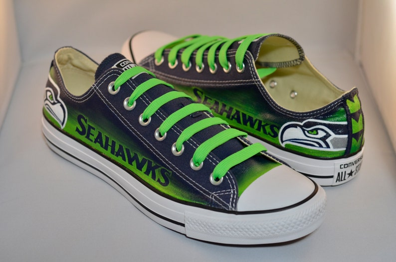 Seahawks Converse Shoes Mens Design  286b87717
