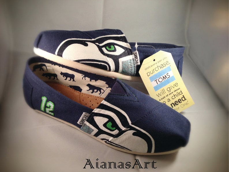 6caf233d3eb Seahawks Navy Blue TOMs Shoes