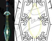 Aesir's Edge - Ulduar Transmog Sword [World of Warcraft] - Cosplay PDF Vector Pattern Blueprint