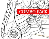 Winged Victory Mercy Wings + Accessories COMBO PACK (Summer 2017 Games Skin) [Overwatch] - Cosplay PDF Vector Pattern Blueprint