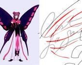 Cosplay PDF Vector Pattern Blueprint - Ruby Moon's Wings : Card Captor Sakura