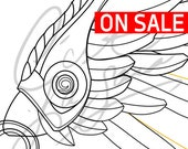 Winged Victory Mercy Wings (Summer 2017 Games Skin) [Overwatch] - Cosplay PDF Vector Pattern Blueprint