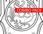 Zhuque Mercy - Combo Pack - (Vermillion Phoenix) Lunar New Year 2018 Mercy Skin [Overwatch] - Cosplay PDF Vector Pattern Blueprint