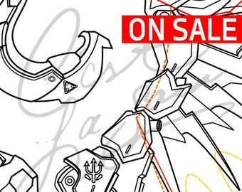 Blueprint etsy mercys wings devilimp skin horns back harness overwatch cosplay pdf vector pattern blueprint malvernweather Choice Image