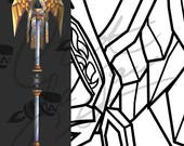 WoW Priest Staff, Staff of Immaculate Recovery [World of Warcraft] - Cosplay PDF Vector Pattern Blueprint