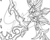Ranger General Sylvanas - Bow, Cape, Quiver [Heroes of the Storm | World of Warcraft] - Cosplay PDF Vector Pattern Blueprint