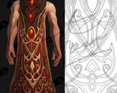 Trial of the Grand Crusader Cape Horde/Alliance [World of Warcraft] - Cosplay PDF Vector Pattern Blueprint