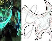 Cosplay PDF Vector Pattern Blueprint - Illidan Stormrage's Warglaive of Azzinoth