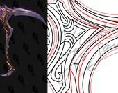 Cosplay PDF Vector Pattern Blueprint - Scythe of Elune #1 (Legion Artifact Weapon)