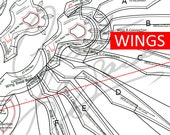 2019 Atlantic Division Mercy Wings [Overwatch All Stars League] - Cosplay PDF Vector Pattern Blueprint