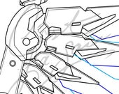 Combat Medic Ziegler's Wings (Mercy Overwatch Uprising Insurrection Skin) - Cosplay PDF Vector Pattern Blueprint