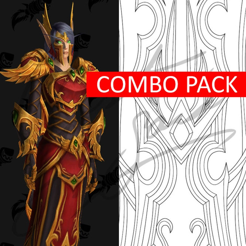 Blood Elf Heritage Armor Combo Pack [World of Warcraft] - Cosplay PDF  Vector Pattern Blueprint