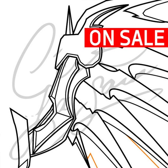 Mercys Wings Witch Overwatch Cosplay Pdf Vector