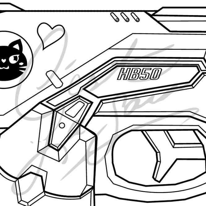 black cat d va s gun and ears legendary skin overwatch etsy Exotic Skins 50