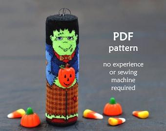 Frankenstein Cross Stitch Pattern. Halloween Cross Stitch Pattern. Trick or Treat Cross Stitch . Modern Cross Stitch Pattern. 3D Cross