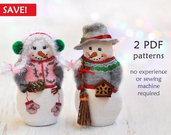 Snowmen Cross Stitch Patterns. Set of 2 Cross Stitch Patterns. Snowman Cross Stitch. Valentines Cross Stitch Pattern. Christmas Cross Stitch