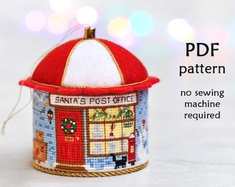 Cross Stitch Christmas Ornament. Christmas Cross Stitch Pattern. 3D Cross Stitch. Christmas Village Cross Stitch. Cross Stitch Ornament
