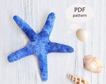 Stuffed Starfish Pattern. Stuffed Animal Sewing Patterns. Nautical Sewing Patterns. Nautical Sewing Projects. Easy Stuffed Animal Pattern