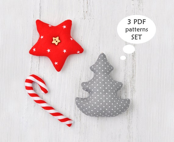 image 0 - Christmas Sewing Patterns. Christmas Ornament Sewing Patterns. Etsy