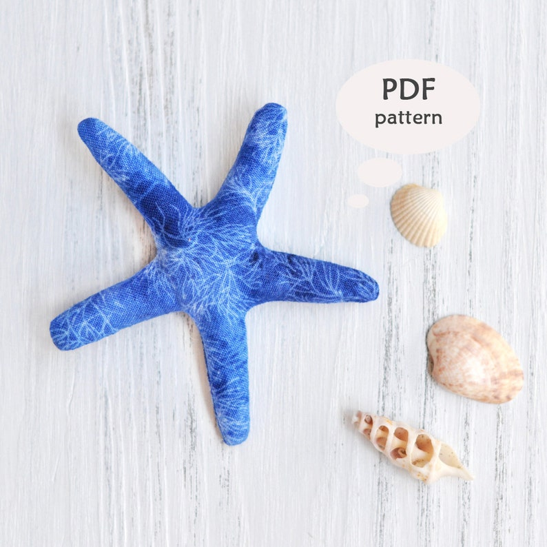 Stuffed Starfish Pattern  Stuffed Animal Sewing Patterns  Nautical Sewing  Patterns  Nautical Sewing Projects  Easy Stuffed Animal Pattern