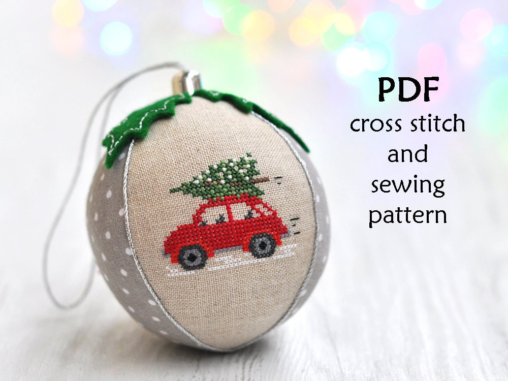 Cross Stitch Christmas Ornament. Christmas Cross Stitch   Etsy