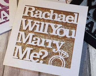 Will You Marry Me? Papercut Greetings Card