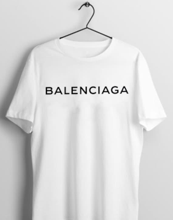 9a3d3fefe5a8 Balenciaga T-Shirt Balenciaga White Balenciaga Black Women | Etsy