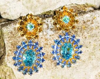 "Earrings ""Anahita"" made with Swarovski ® elements"