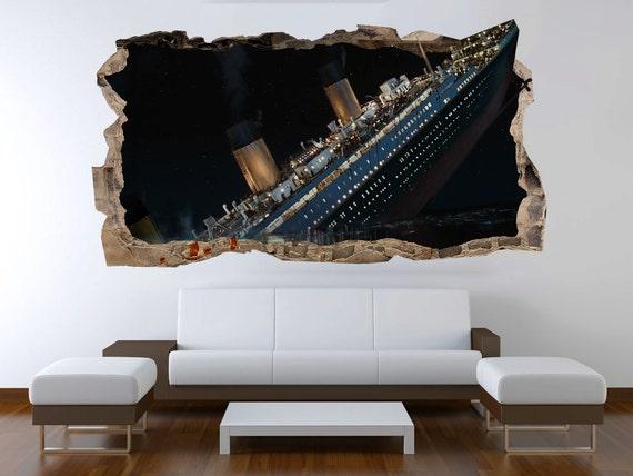 Startonight 3D Mural Wall Art Photo Decor Titanic Amazing Dual | Etsy