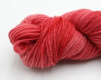 Hand Dyed British Jacob DK Yarn - Pale Red