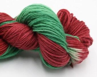 Hand Dyed British Jacob DK Yarn - Christmas