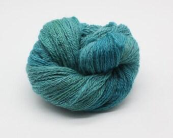 Hand Dyed 4ply British BFL & Masham Yarn - Turquoise