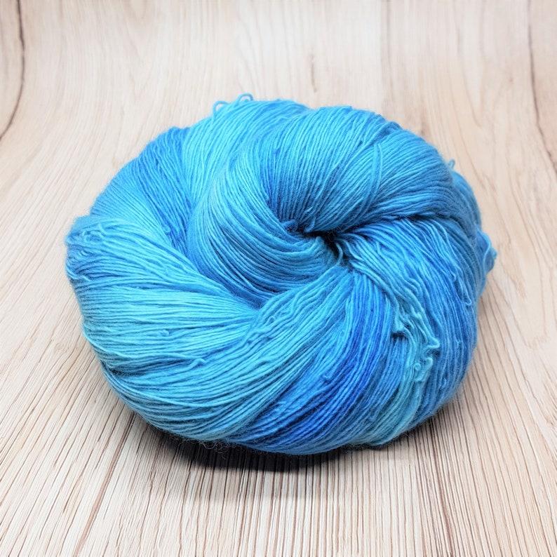 Laceweight Falkland Merino Hand-Dyed Wool Yarn Blue Lagoon