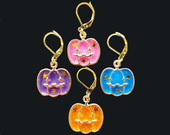 Halloween Knitting & Crochet Progress Keepers/Stitch Markers - Pumpkins