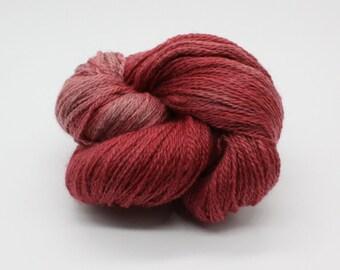 Hand Dyed 4ply British BFL & Masham Yarn - Carnation